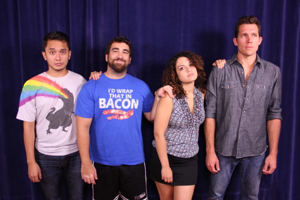 Cast from L-R: Roberto Alexander, Emilio Paul Tirado, Neysa Lozano, W Derek Jorden