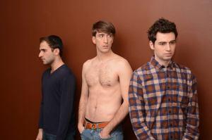 Ethan Fishbane as Abe, Christopher Moss as Ty, and Joe Kopyt as Shlomi