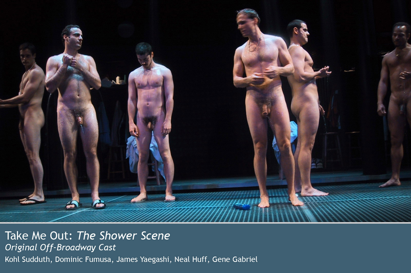 Male nudity on stage